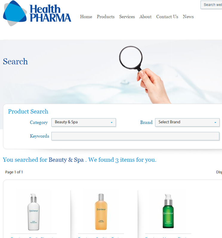 HEALTH PHARM SEARCH